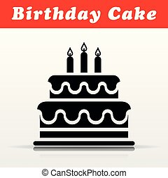 birthday cake vector icon design