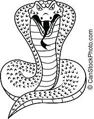 Black and white Cobra - illustration of Black and white ...