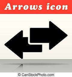black arrows vector icon design