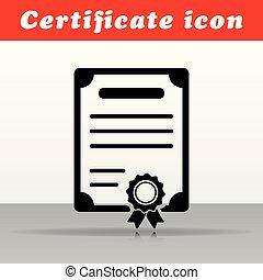 black certificate vector icon design