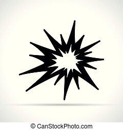 black explosion on white background