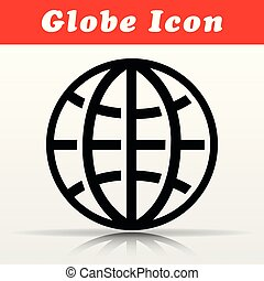 black globe vector icon design