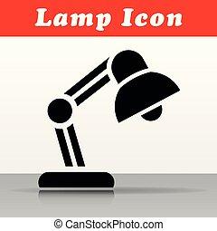 black lamp vector icon design
