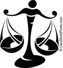 Black Libra Zodiac Star Sign - Illustration of Black Libra...