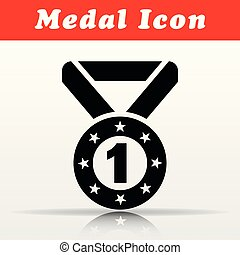 black medal vector icon design