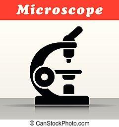 black microscope vector icon design