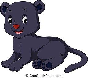 Black panther cartoon