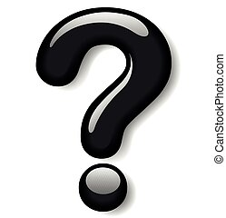 black question mark