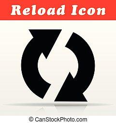 black reload vector icon design