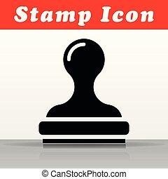 black stamp vector icon design
