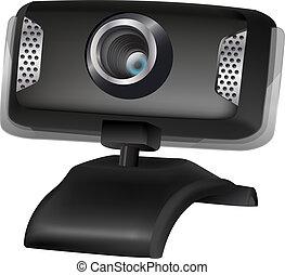 illustration of black webcam