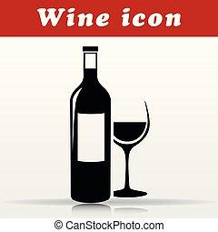 black wine vector icon design