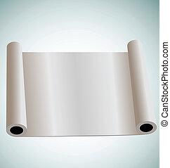 Illustration of blank paper roll for design