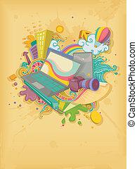Illustration of Blog Interests Designs