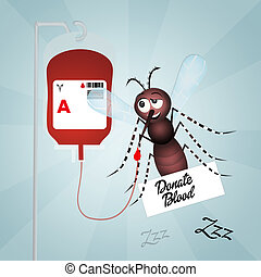 blood donation - illustration of blood donation