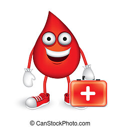 blood drop - Illustration of blood drop with shoes and red...