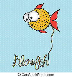 illustration of blowfish