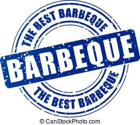blue barbeque stamp