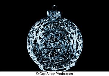 Illustration of blue Christmas ball