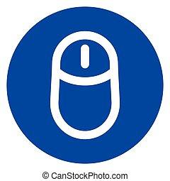blue circle mouse icon