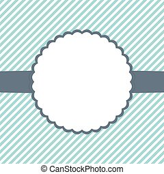Blue mint and white template card - Illustration of Blue...