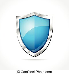 blue shield on white background