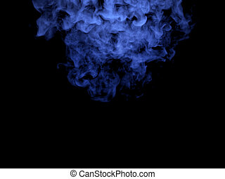 Illustration of blue smoke