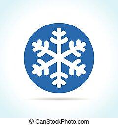 blue snowflake icon on white background