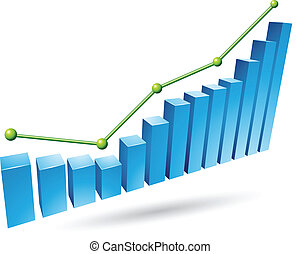Blue Stats Graph - Illustration of Blue Stats Graph isolated...