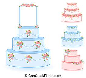 Illustration of blue sweet wedding