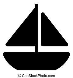 boat icon on white background