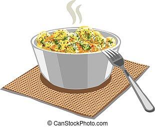 boiled potatoes in bowl