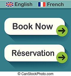 book now button with french translation