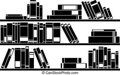 illustration of books on shelves