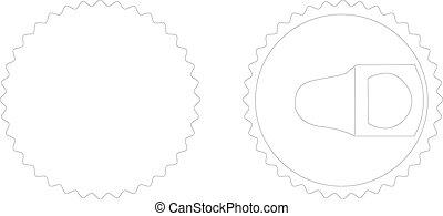 illustration of bottle opener on white