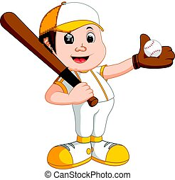boy baseball player - illustration of boy baseball player