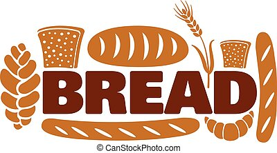 bread and bakery logo