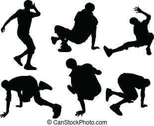 illustration of breakdance - vector