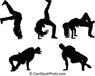 breakdance - vector - illustration of breakdance - vector