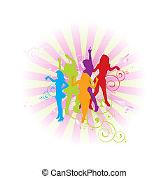 bright women composition - illustration of bright women...