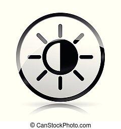 brightness icon on white background
