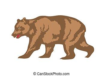 illustration of brown bear - Brown bear mascot. Design...