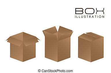 illustration of brown boxes