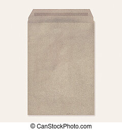 Illustration of brown envelope isolated on white