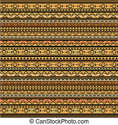 Illustration of brown ethnic texture, african style ....