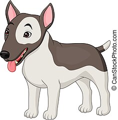 Bull Terrier dog breed - Illustration of Bull Terrier dog...