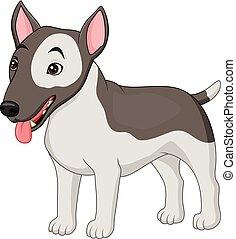 Bull Terrier dog breed - Illustration of Bull Terrier dog...