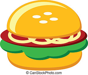 burger - illustration of burger icon
