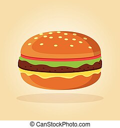 burger in flat design concept