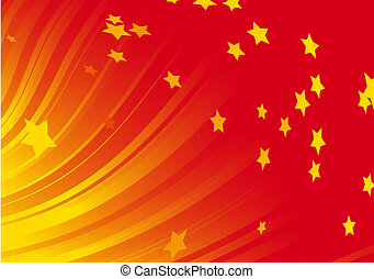 dynamic red background - illustration of Burst of shining...